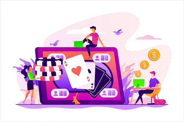 Concetto di poker online.