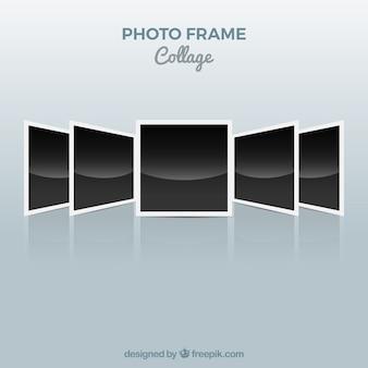 Concetto di polaroid collage di foto cornice