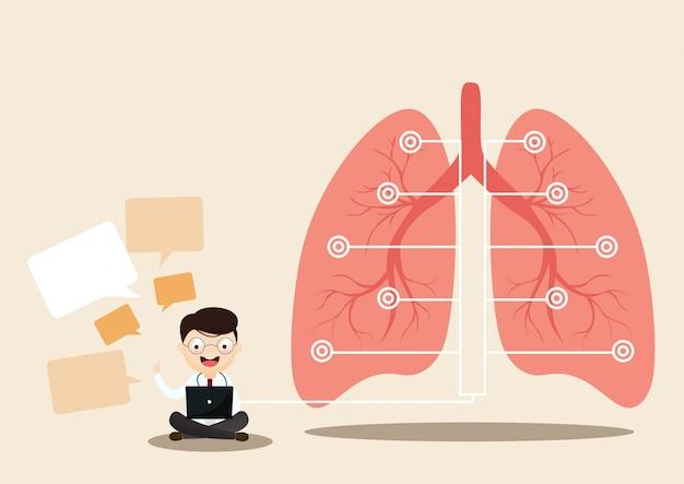 Concetto di polmone