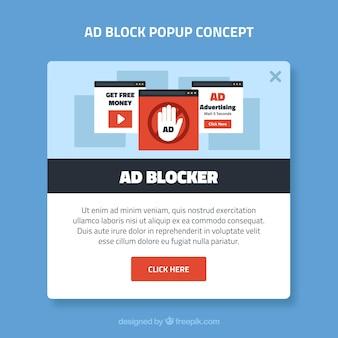 Concetto di pop-up pubblicitario con design piatto