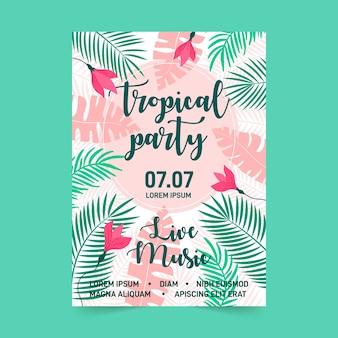 Concetto di poster festa tropicale