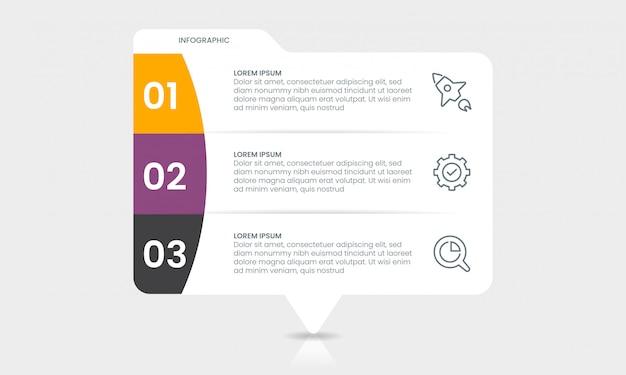 Concetto di presentazione infografica modello di business infografica