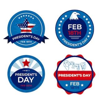 Concetto di president day per la raccolta di etichette
