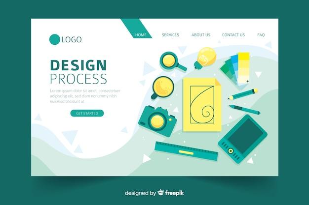 Concetto di processo di progettazione per landing page