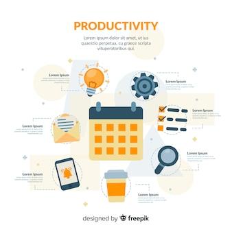 Concetto di produttività moderna con design piatto