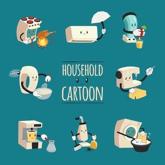 Concetto di progetto del fumetto degli elettrodomestici