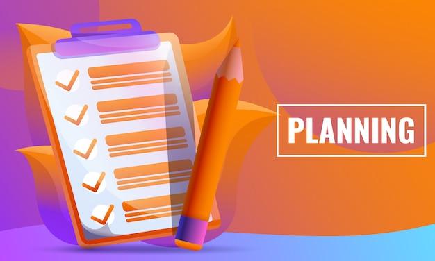 Concetto di progetto di piallatura foglio di controllo e matita