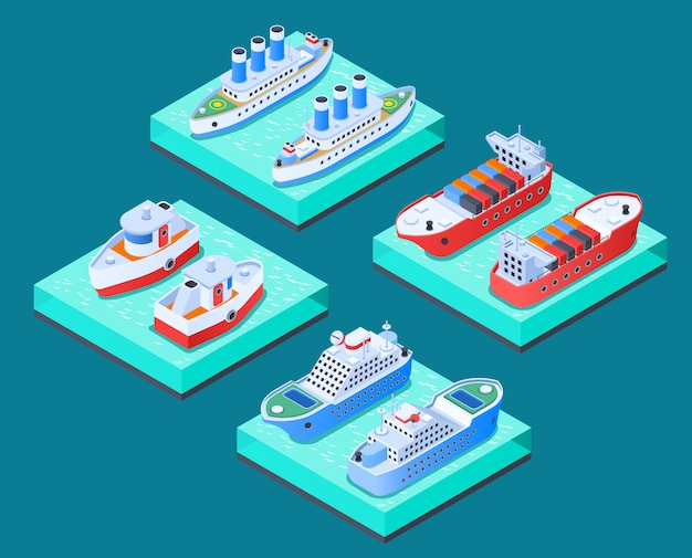 Concetto di progetto isometrico delle navi