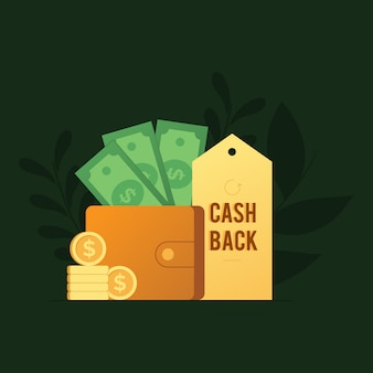 Concetto di programma di cashback