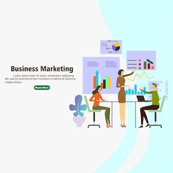 Concetto di progresso di marketing business corporation