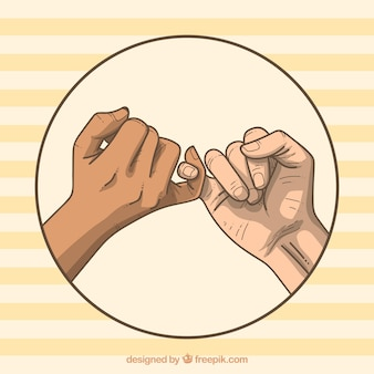 Concetto di promessa del mignolo disegnato a mano