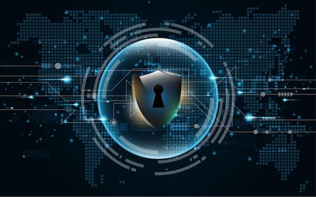Concetto di protezione dello schermo di protezione 3d protetto