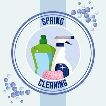 Concetto di pulizie di primavera