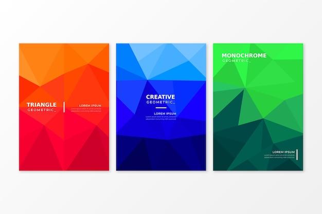 Concetto di raccolta copertina geometrica astratta
