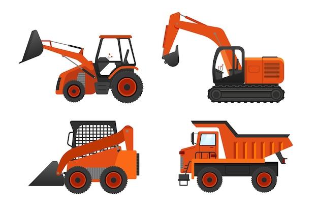 Concetto di raccolta dell'escavatore