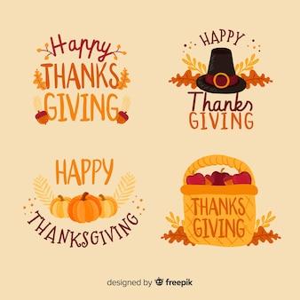 Concetto di raccolta dell'etichetta del ringraziamento