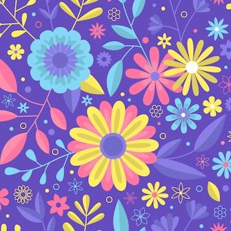 Concetto di raccolta di motivi floreali