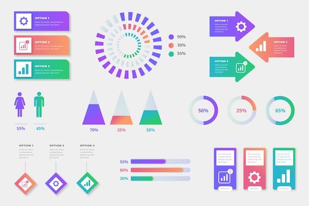 Concetto di raccolta elemento infografica