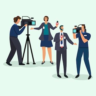 Concetto di raccolta giornalista