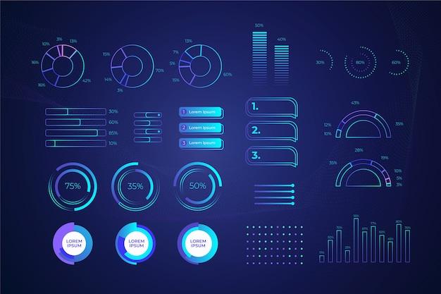 Concetto di raccolta infografica tecnologia