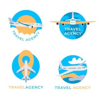 Concetto di raccolta logo di viaggio
