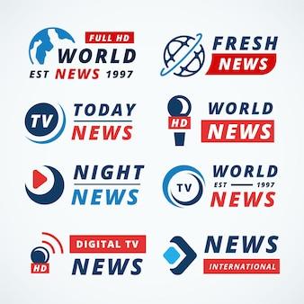 Concetto di raccolta logo notizie