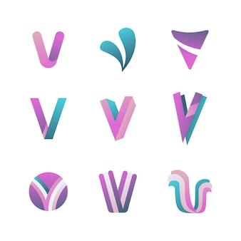 Concetto di raccolta logo v