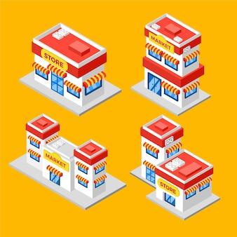 Concetto di raccolta negozio isometrica