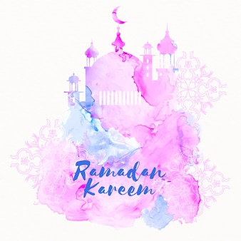 Concetto di ramadan dell'acquerello