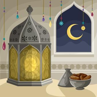 Concetto di ramadan disegnati a mano
