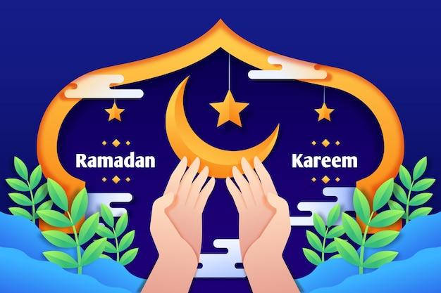 Concetto di ramadan in design piatto