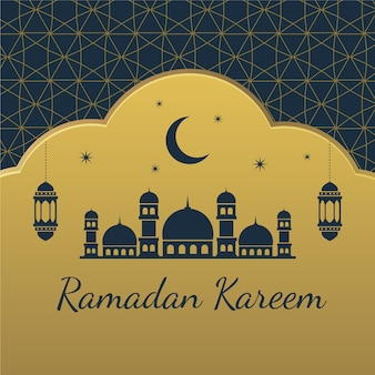Concetto di ramadan piatto