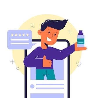 Concetto di recensione di blogger