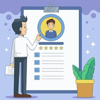 Concetto di reclutamento illustrato