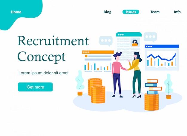 Concetto di reclutamento per pagina web