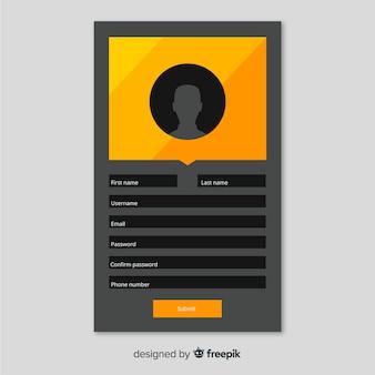 Concetto di registrazione online moderna