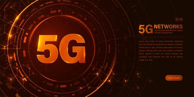 Concetto di rete 5g. connessione internet ad alta velocità