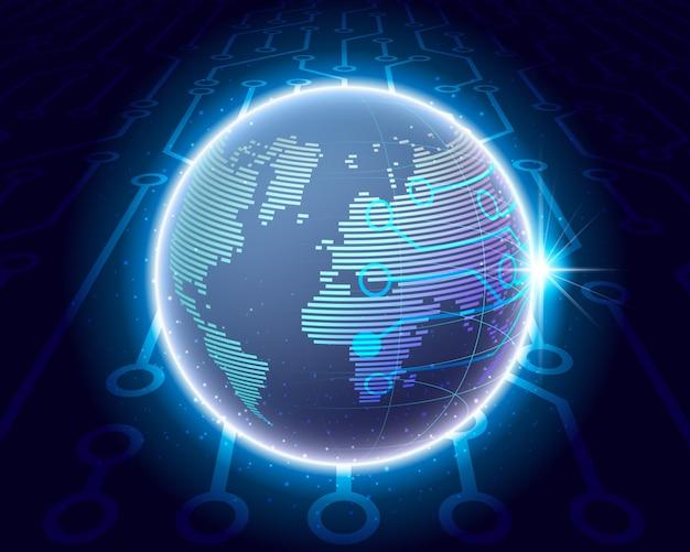 Concetto di rete di connessione globale.