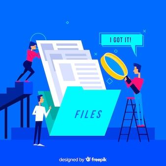 Concetto di ricerca file per landing page