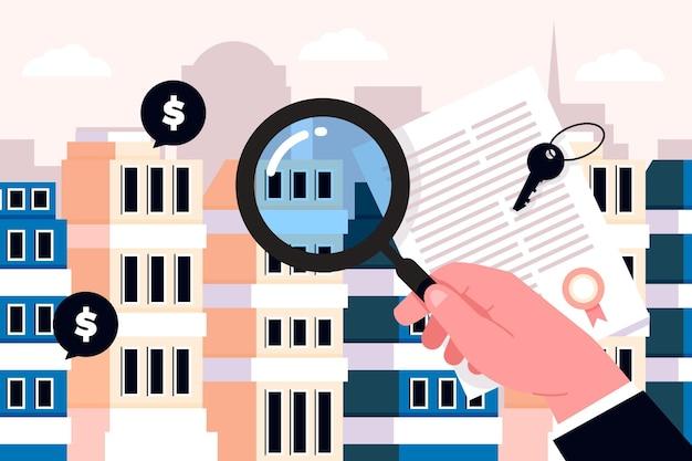 Concetto di ricerca immobiliare
