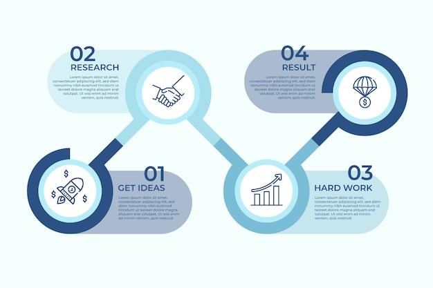 Concetto di ricerca infografica di affari