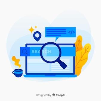 Concetto di ricerca per landing page