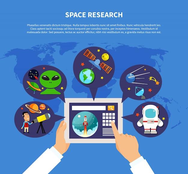 Concetto di ricerca spaziale