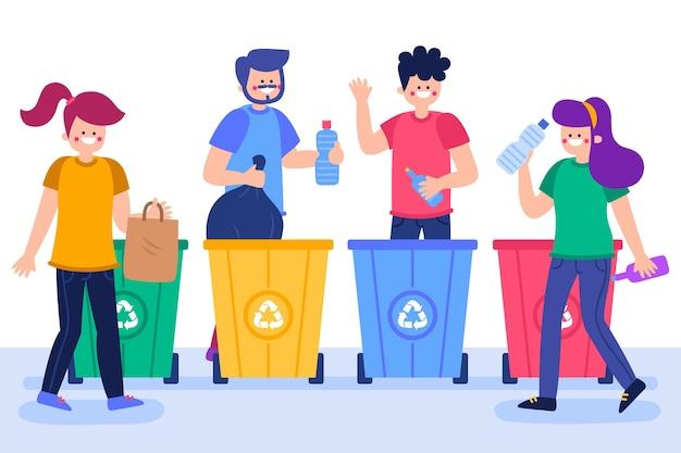 Concetto di riciclaggio di persone