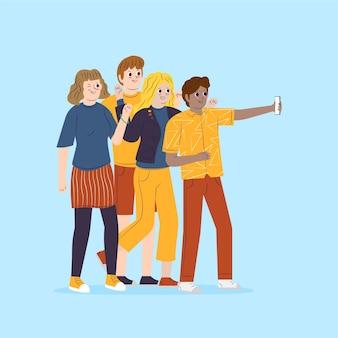 Concetto di ricordi personali per l'illustrazione
