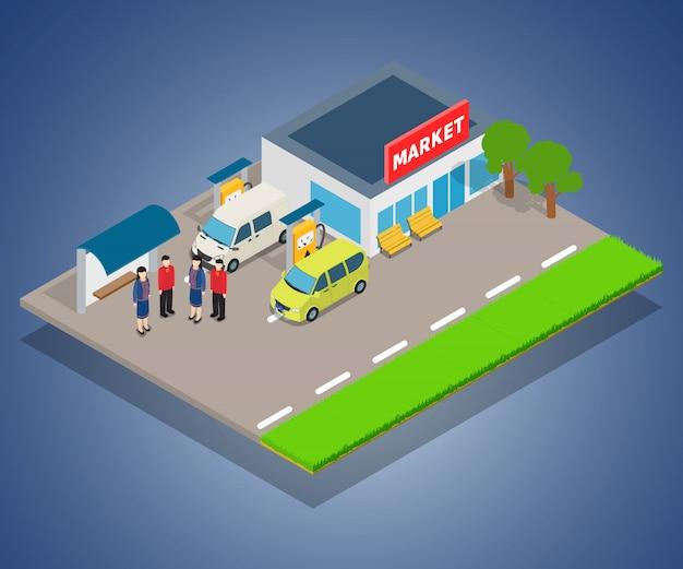 Concetto di rifornimento di carburante del negozio
