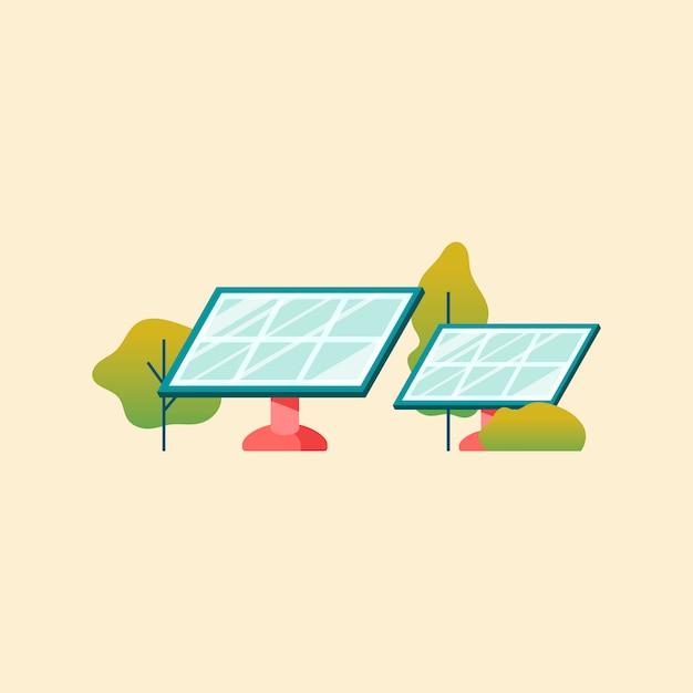 Concetto di risparmio energetico con pannelli solari
