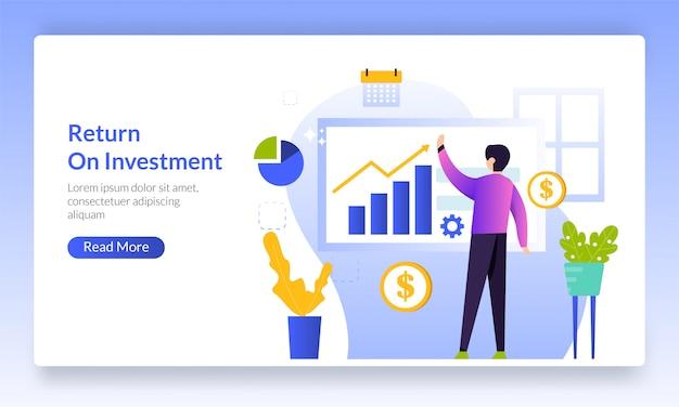 Concetto di ritorno sugli investimenti