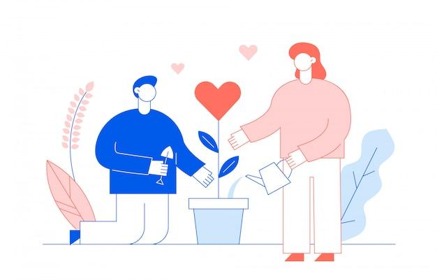 Concetto di san valentino con le persone
