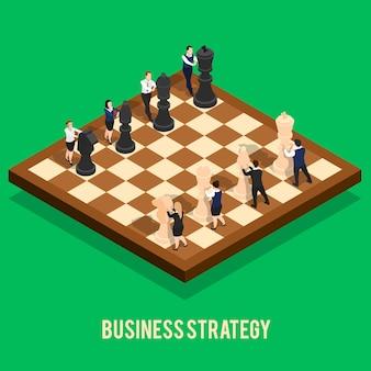 Concetto di scacchi di strategia aziendale